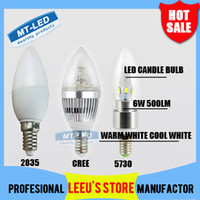 led candle light bulb - SMD2835 V CREE V W lm Led candle Bulb E27 E14 LED chandelier led light lamp lighting SMD downlight