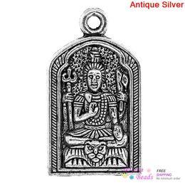 Wholesale Charm Pendants Buddha Amulet Antique Silver x1 cm K10025