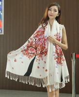 Wholesale 2014 new fashion women infinity scarves autumn winter warm tassel shawl Ethnic twill acrylic scarf WJ3072