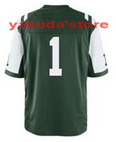 Football Men Short Wholesale #1 Green Jersey,Team Sports Jersey Highest Quality Jerseys,New Season American College Football Jerseys Free Shipping