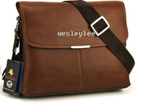 Wholesale fashion design men bags business leisure leather messenger bags briefcases cross section black dark brown light brown