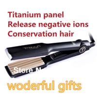 Wholesale Flat Iron Ceramic Hair Roller Titanium Hair Salon Equipment Professional Hair Styling Tools Corn Curls v EU UK US PLUG