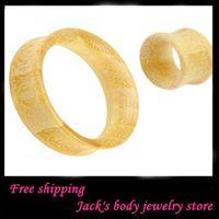 Plugs & Tunnels bamboo ear plugs - bamboo ear flesh tunnel F55 mix mm body piercing jewelry ear plug