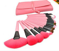 Pink Brushes  beauty supply case - 2014 New Beauty Brush HOT SALE Brand New Professional Pink Makeup Brush Set with Case Female Supplies