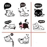 Wholesale Cute Cat Switch Sticker Patterns Wall Sticker Wall Decors Wall Arts Vinyl Decals