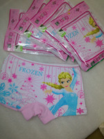 Wholesale Frozen Princess girls panties Children briefs boxers cotton girls cartoon character underwear Briefs girl Panties inner wears T B02