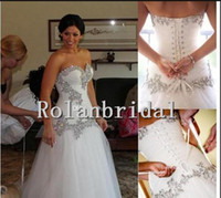 Wholesale 2014 A Line Sweetheart Bling Bling with Tulle Pnina Tornai Chapel Train Bridal Gowns Wedding Dresses