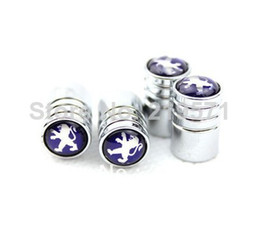 Wholesale high quality Peugeot special stainless steel valve cap tire decoration valve
