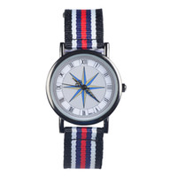 Women's Water Resistant Round SS8056 New Arrivals Canvas Women Dress Watches,Japan Quartz movement watch,Free Drop shipping
