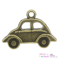 Wholesale Charm Pendants Car Antique Bronze x15mm K02987