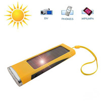 Wholesale Lowest Price mAh Portable Solar Charger Power Pack w LED White Light amp Phone Charging Adapters