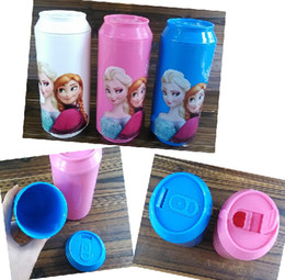 Wholesale 9 off in stock Cartoon frozen elsa anna Children cups cola button cup Non toxic and tasteless drop shipping hot sale MC