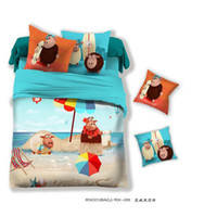 100% Cotton Woven Home 3D Sheep Kids cartoon bedding comforter set bedroom bedsheet children queen size bedspread bed in a bag sheets duvet cover quilt linen