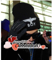 Wholesale Winter New BOY LONDON Eagles Knitted Wool Cap Fashion Embroidered Black Warm Hat For Boy Girls Beanies