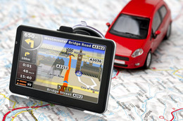Cheap SGpost 7 inch Car Vehicle GPS Navigation Navigator Bluetooh Av In FM Transmitter MTK CE 128M 4GB Free 2014 NEW Map