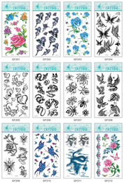 Wholesale Flower Temporary Tattoo Animal Fake Tattoos Colorful Waterproof Tattoo Sticker Body Art Tools for Women cm