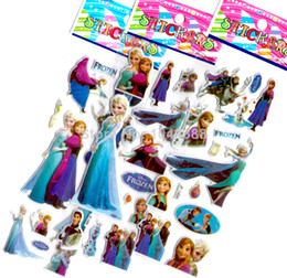 Wholesale Sheets Frozen Design Kids Cute toy Stickers Cartoon Craft Scrapbook Stickers Awards Children s Products gifts