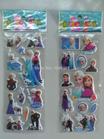Wholesale Frozen Design10 Sheets Kids Cute toy Stickers Cartoon Craft Scrapbook Stickers Awards Children s Products gifts