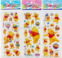 oem baby bear stickers - baby bear stickers for children classic toys D cartoon kids stickers party gift sheets