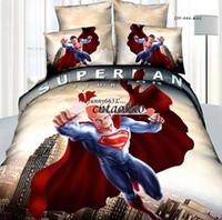Unisex Four-piece Cribs Bedding frozen quilt cover set queen size bedding set for kids 4 pcs bedding sets 100%cotton spiderman comforter set superman bedding set MOQ=10