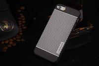 al por mayor metal case-MOTOMO marca metal cepillado de aluminio del caso de la aleación dura de la PC + para el iPhone 5 5S 6 Lujo casos de teléfono celular protector de polvo cubierta a prueba