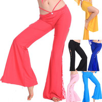 Belly Dancing Zebra-stripe Leather Women's Fashion Elastic Bottoms Costume Belly Dance Dancing Pants Tribal Fusion 10 Colors # L034919