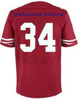 Wholesale discount Hyde Red Cheap Price American Football Elite Jerseys Rugby Stitched Outdoor Jersey Cheap Sports Jersey