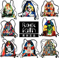 Wholesale 2014 New Harajuku style a shoulder bag retro bag the influx of women drawstring bag printing canvas bag with beam port bag pumping