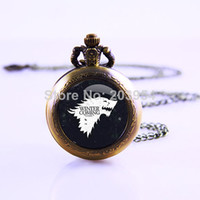 Antique american stationary - American TV Series Game of Thrones Inspired Movie Thrones Necklace Video Pocket Watch Necklace Watch Necklace Gift Watch