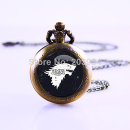 Wholesale American TV Series Game of Thrones Inspired Movie Thrones Necklace Video Pocket Watch Necklace Watch Necklace Gift Watch
