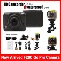 Wholesale New Arrived F20C Go Pro Camera P Sport Camera Full HD Mini DV Camera Waterproof Video Camera