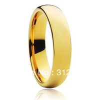 gold filled ring - Never fading classic mm wide ring for men women K real yellow gold plated GF filled lovers wedding rings USA SIZE