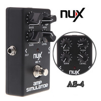 Wholesale NUX AS Amplifier Simulator Violao Guitar Electric Effect Pedal True Bypass Black Musical Instrument Parts Electronic New
