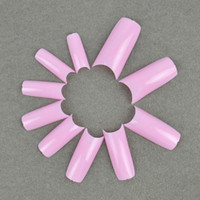 Wholesale MN New Professional Artificial Acrylic False Nails Art Tips Pink