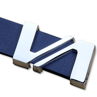 Wholesale Double V Korean men and women belt buckle leisure smooth buckle belt genuine leather belts for men