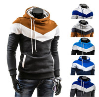 Wholesale 1213 High Quality New HOT Men s Fashion pullover Hoodie Combination color design jacket Hoodies Sweatshirts Jacket Coat