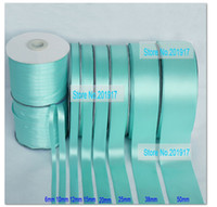 Wholesale Superior Quality quot mmTiffany Blue Single Face Satin Ribbon Webbing Decaration yds Roll Matt Polyester Ribbon Mix