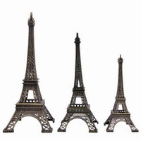 Wholesale Home Decoration Vintage Bronze Tone Paris Eiffel Tower Fit For Office Desk Ornament GMU