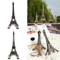 Wholesale NEW ARRIVAL Home Decoration Vintage Bronze Tone Paris Eiffel Tower Fit For Office Desk Ornament GMU