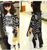 sweater - New Girls Fashion Knitted Cardigan Children Geometry Shawl Baby Sweater Kids Outwear Autumn Sweater