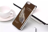 For Apple iPhone ally - 4 Inch Love Wings Back Cover Bling Bling Diamond Cases for Iphone I6 D Electroplating Aluminum Ally Metal Case Hard Metallic Shell
