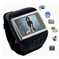 Wholesale Watch Mobile Phone V6 with Keypad quot Touch Screen GSM SIM Unlocked Cellphone Quadband Spy Camera Smart Bluetooth Hands free for phone