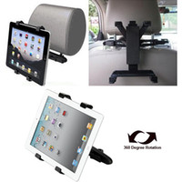 Wholesale 20pcs DHL Universal Rotation Back Seat In Car Rear Bracket Car Stand Holder for iPad New iPad iPad iPad iPad All Tablet PC