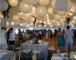 Latas de papel en Línea-Linterna de papel blanco / elementos chinos / se puede plegar / se puede utilizar para la boda
