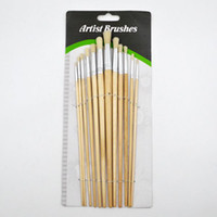 Wholesale 12Pcs Set Round bristle hair Acrylic oil Gouache watercolor painting brushes BB0135