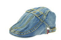 Wholesale 2014 Beautiful fashion women s canvas baseball caps fashion casual lady wear peaked caps letter design Denim cloth sun ha