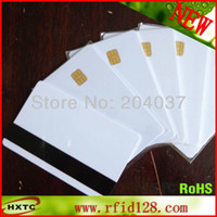Wholesale Pieces Sle4442 with Hi Co Magnetic Stripe in Blank Smart Memory Chip Card Printable By Plastic Card Printer