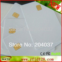 Wholesale 200PCS Printable PVC Contact Smart IC Card With FM4442 Sle4442 Chip For Epson Canon Inkjet Printer Suitable Payment System