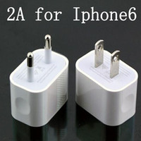 Wholesale 5V A Home Wall Charger EU US AC Travel USB Adapter for iPhone S S Samsung Galaxy S3 S4 S5 HTC Huawei with High Quality Free DHL