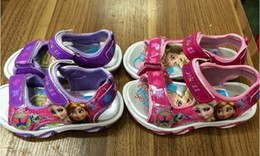 Wholesale Frozen Baby Shoes Princess Elsa Anna Children Sandals Light Decoration Kids Casual Shoes Pairs Kids Best Gift